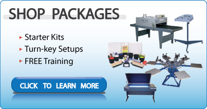 Screen Printing Equipment-Silk Screening Supplies-Kits & packages