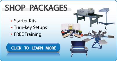 Screen Printing Equipment Silk Screening Supplies Kits Packages