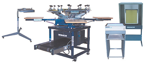 All in One Screen Printing Machine and Low Riding t-shirt Dryer